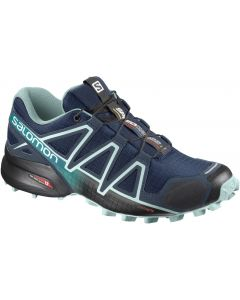 Speedcross 4 Wide W Poseidon/Eggshell Blue/Black Seitenansicht