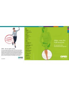 Titelseite des Nachbehandlungshefts in grünen Design mit Fokus auf einen Fuß