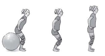 Kniebeuge mit Gymnastikball