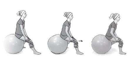 Stabilisationsübung mit Gymnastikball