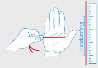 Valife Krückenhandschuh Größe